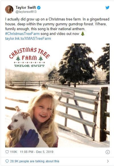 'Christmas Tree Farm': El nuevo jingle Navideño de Taylor Swift