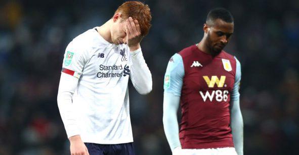 Aston Villa goleó y eliminó al Liverpool 'juvenil' de la Carabao Cup