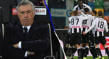 Continúa la crisis: Napoli empató en su visita al Udinese y Ancelotti peligra