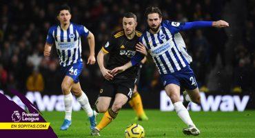 Wolves rescató el empate ante el Brighton con genialidad de Jiménez incluida