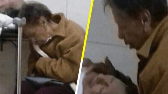 """""""No te dejaré sólo"""": Doña María, la mujer de 84 años que acompañó a su esposo durante días en una clinica del IMSS"""