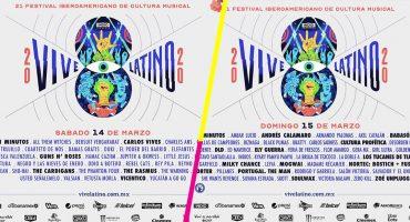 ¡Tenemos horarios por día para el Vive Latino 2020!
