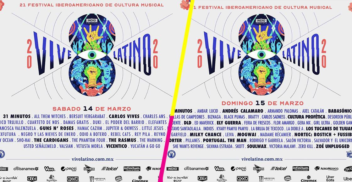 Así quedó la distribución de bandas por día del Vive Latino