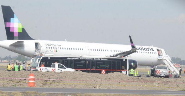 Avión de Volaris regresa al AICM por posible amenaza de bomba