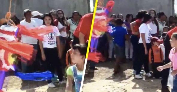 ¡¿Qué?! Descubren que la gente de Yucatán rompe la piñatas con las manos y no sabemos qué pensar