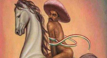 Familiares de Zapata demandarán por pintura en que se ve al caudillo 'de gay'