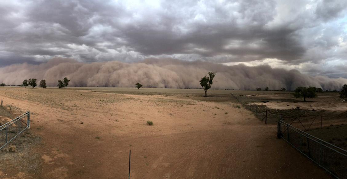 En imágenes: Lluvias, granizo y tormentas de arena en el este de Australia