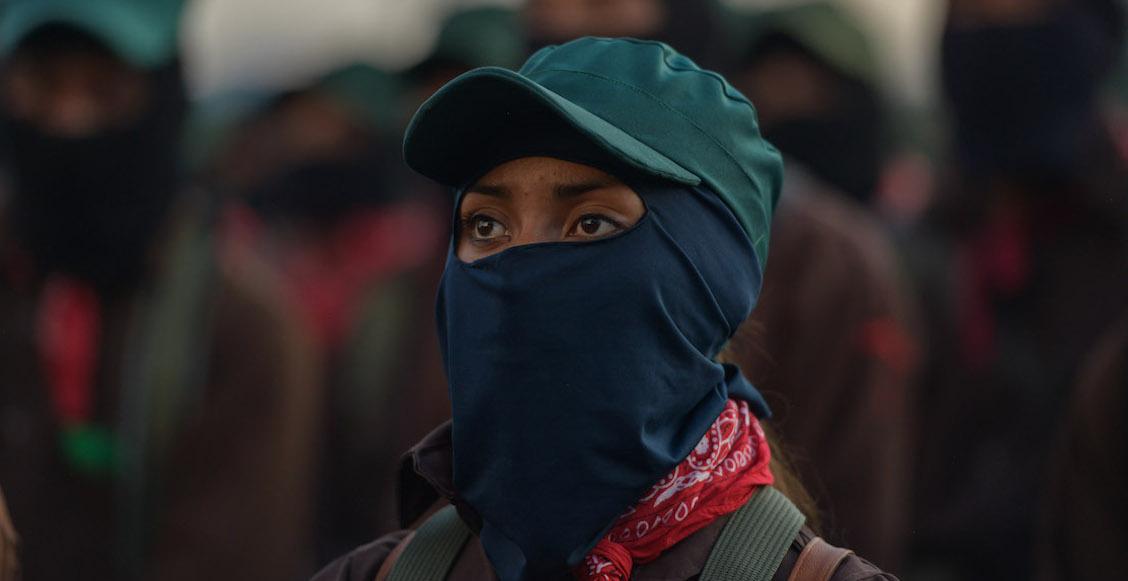 Mujeres del EZLN se suman al paro feminista del 9 de marzo