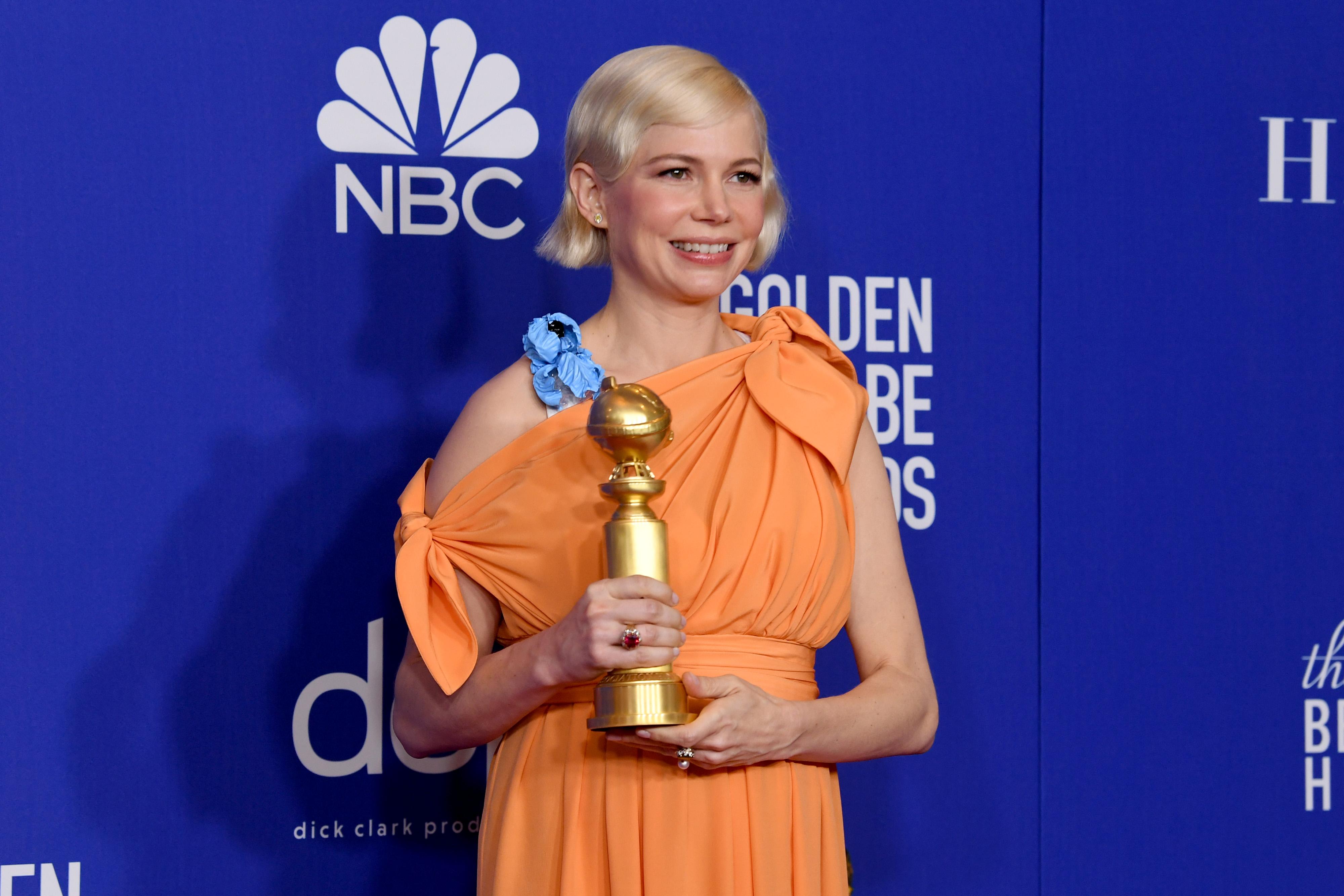 Michelle Williams defiende el aborto en su discurso de los Golden Globes