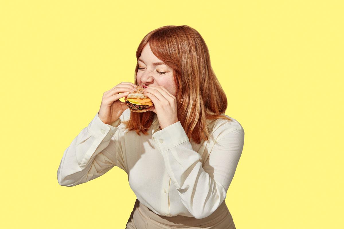 Hamburguesa de carne creada con plantas de Impossible Foods