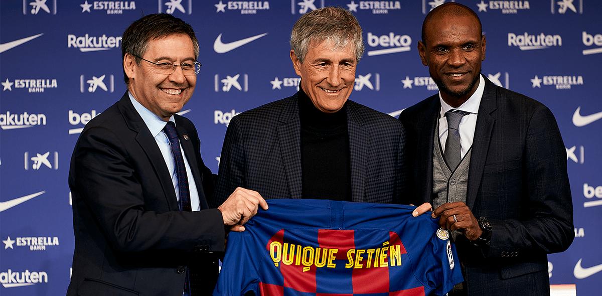 El homenaje a Cruyff, las vacas y la cláusula: Lo que dejó la presentación de Quique Setién con el Barcelona