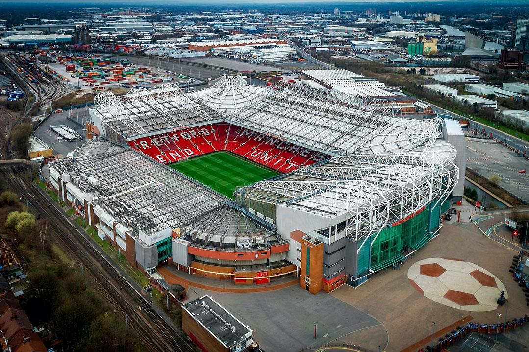 Panoramica de Old Trafford estadio del Manchester United