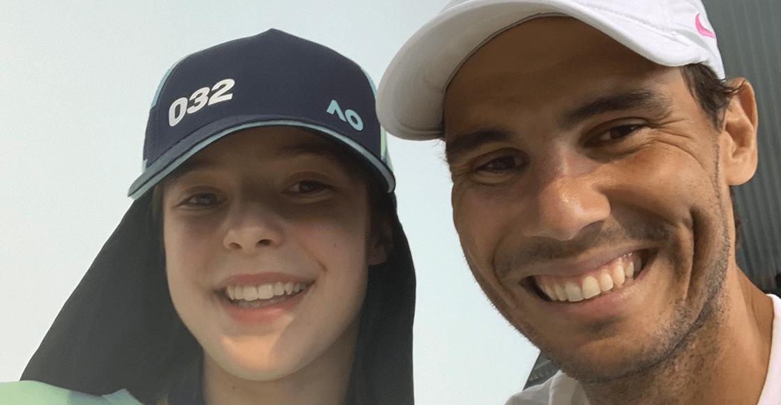 Crack nivel: Nadal visitó a la niña recogepelotas que golpeó accidentalmente y a su familia