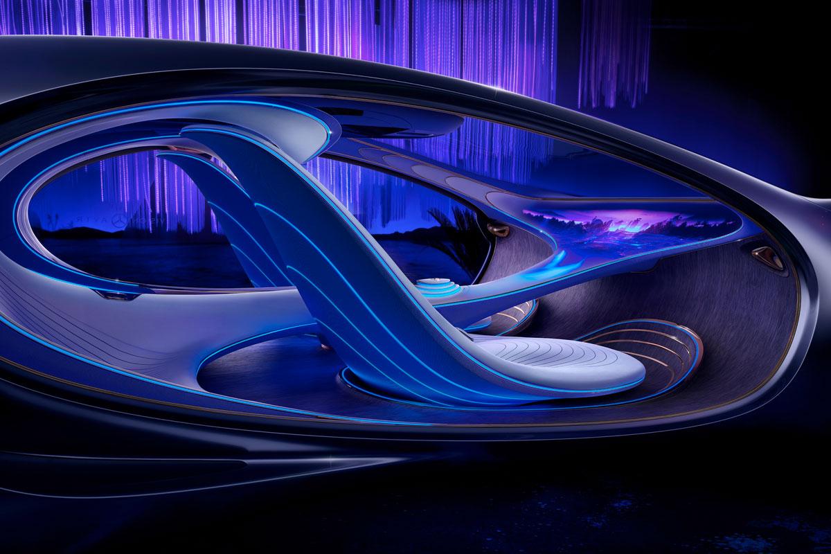 El concepto de Vision AVTR nace con la misión de ser un vehículo 100% ecológico y amigable con el medio ambiente / Foto: Mercedes Benz