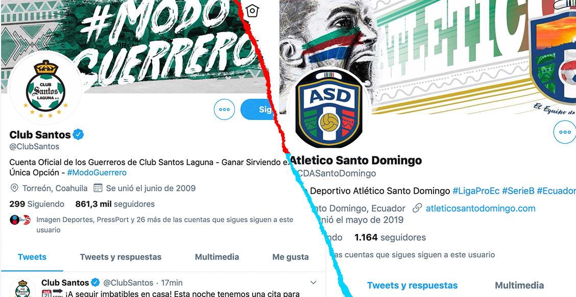 Santos 'acusó' a equipo de Ecuador de copiarle su foto y su lema