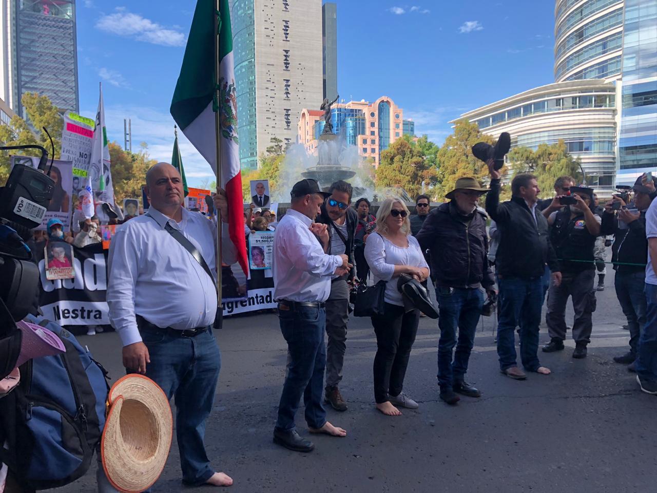 En imágenes: Así se vivió la Caminata por la Verdad, Justicia y Paz en CDMX