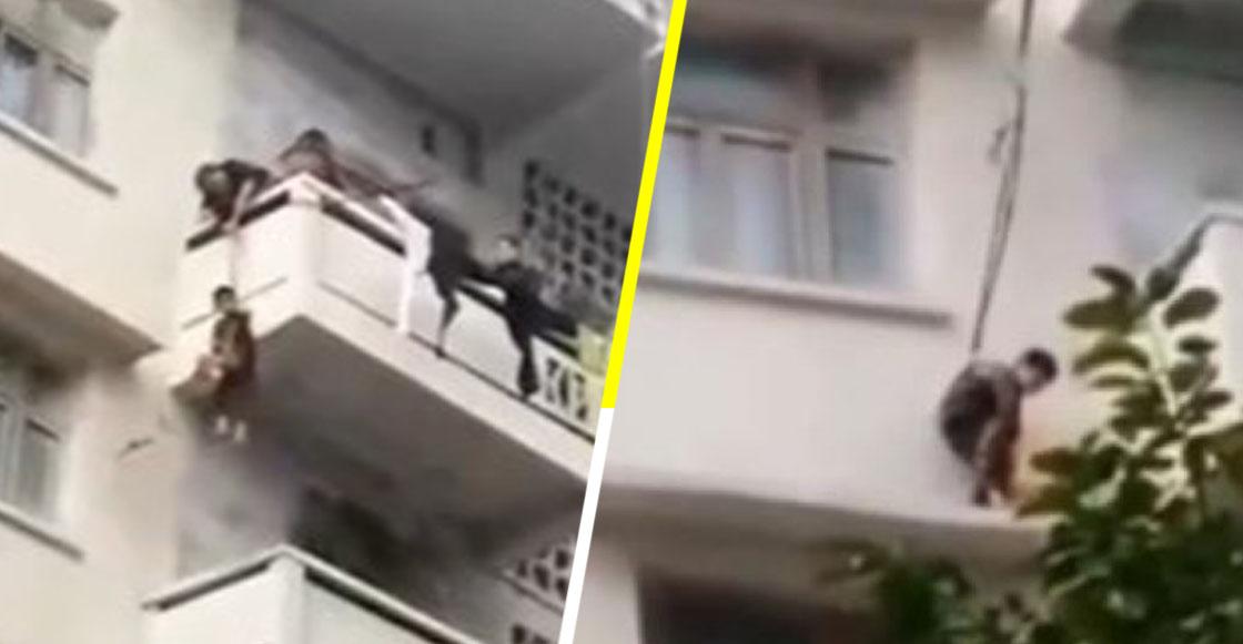 'Quieren más al gato que a mí' nivel: Abuela cuelga a niño de un quinto piso para que rescatara a su mishi