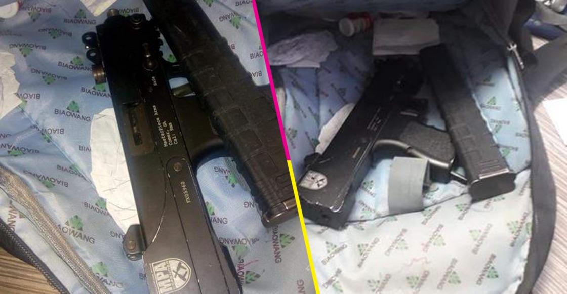 Un alumno de secundaria de NL tenía una subametralladora en la mochila