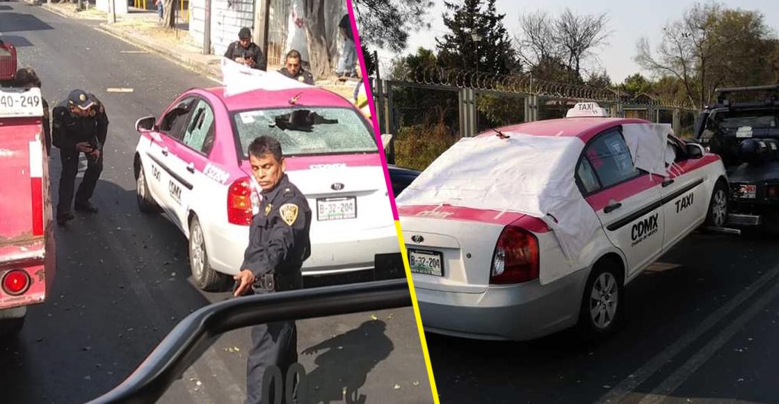 Otra vez en Periférico: Matan a balazos a dos personas que iban en un taxi