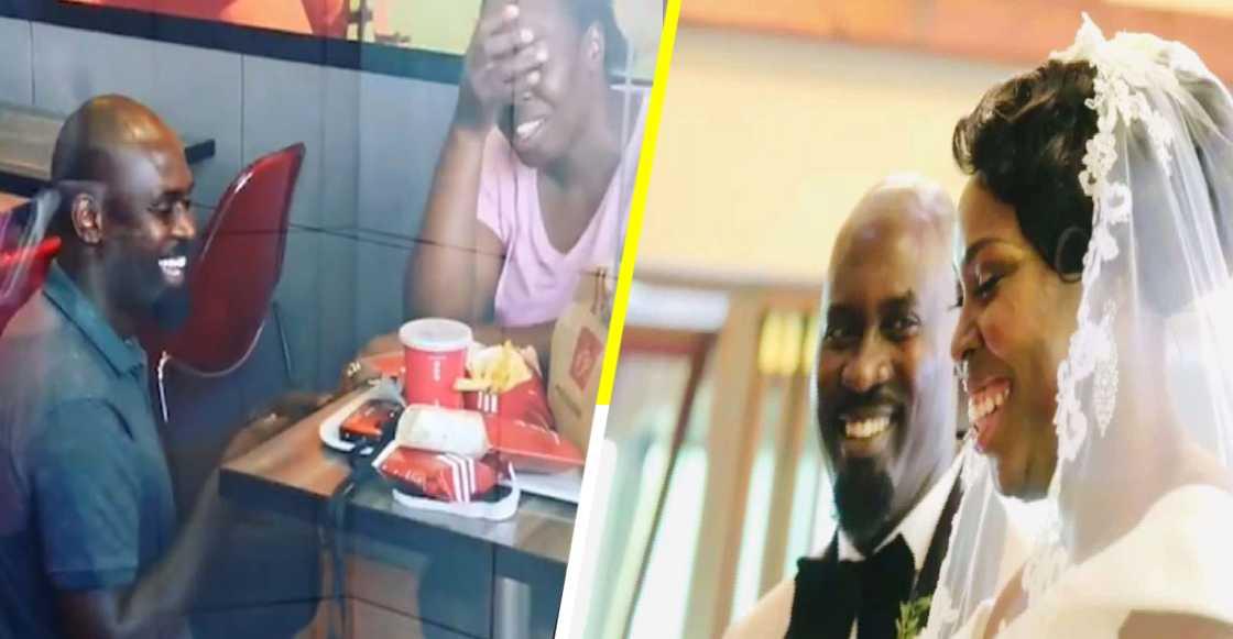 Los bullearon por comprometerse en KFC, pero les organizaron una boda de ensueño