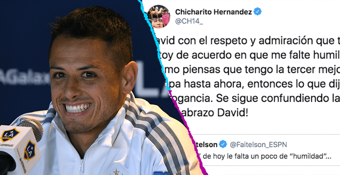 ¡Chicharito' responde a Faitelson tras crítica en Twitter sobre su