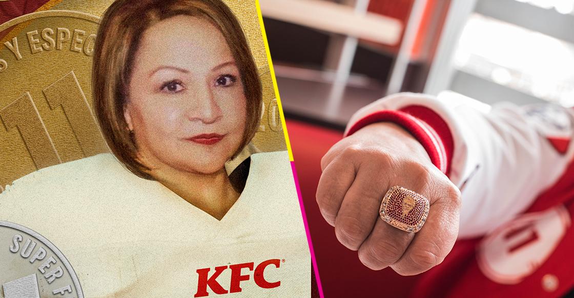 destacada kfc super fan anillo finger lickin ring