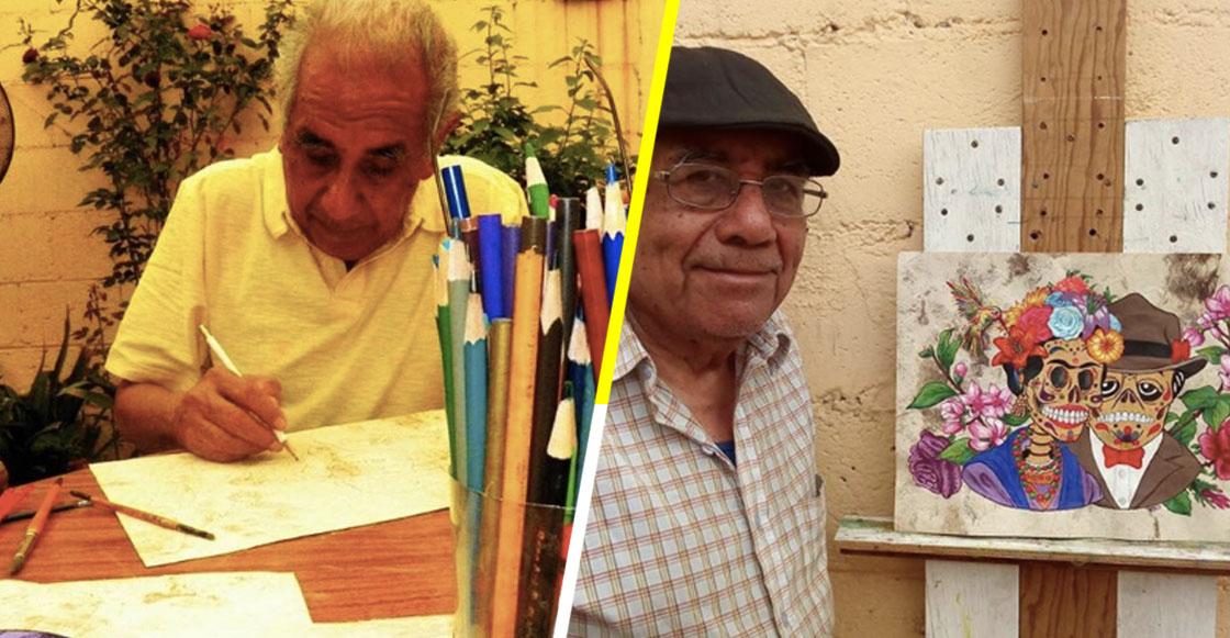 Don Toño: El abuelito mexicano que intenta vivir de su arte después de sufrir un derrame cerebral
