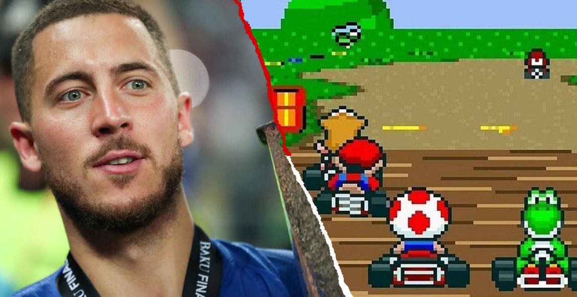 La historia de Eden Hazard jugando Mario Kart antes de sus juegos con el Chelsea