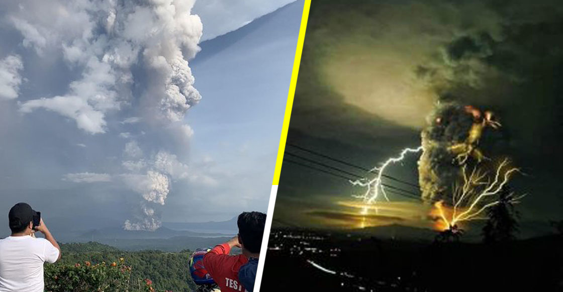 Las impresionantes fotos y videos de la explosión del volcán Taal en Filipinas