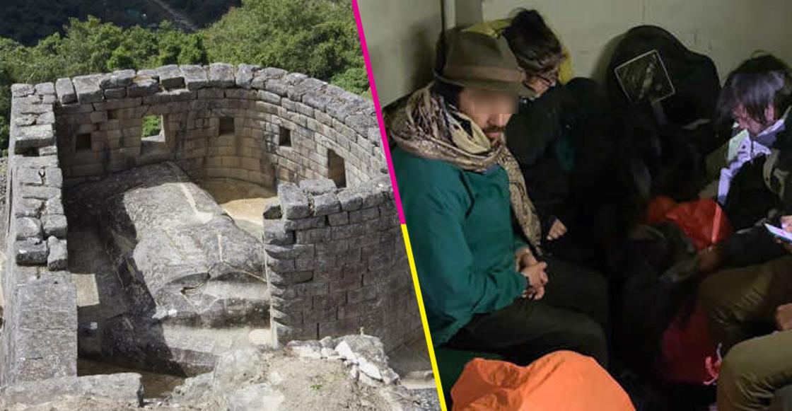 6 extranjeros fueron detenidos por dañar y defecar templo en Machu Picchu