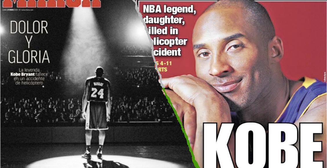 Primeras planas del mundo recuerdan a Kobe Bryant en sus portadas