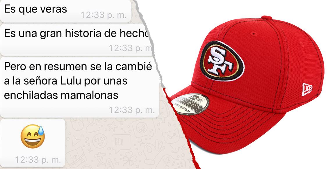 Su exnovio cambió su gorra de los 49ers por unas enchiladas y la NFL le regalará otra