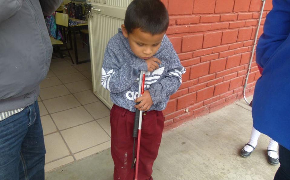 Jesús Antonio: El niño con discapacidad visual que pide ayuda para poder seguir estudiando