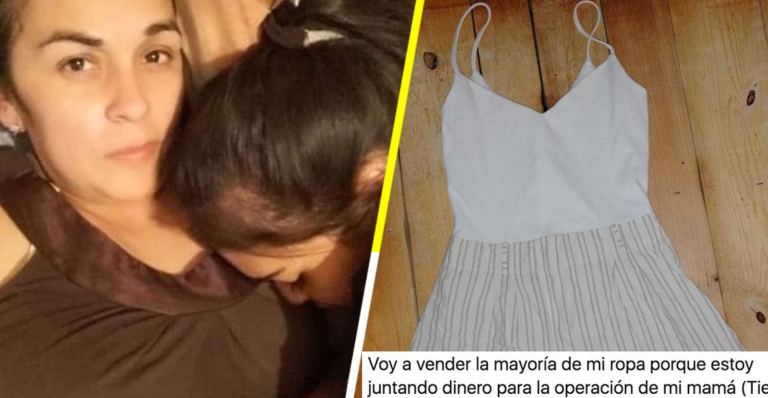 Joven de 17 años pone a la venta su ropa para ayudar a pagar la operación de su mamá