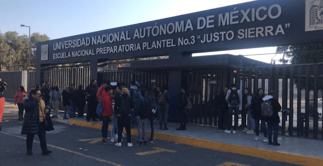 Prepa 3 se va a paro; alumnos exigen que la UNAM atienda casos de acoso