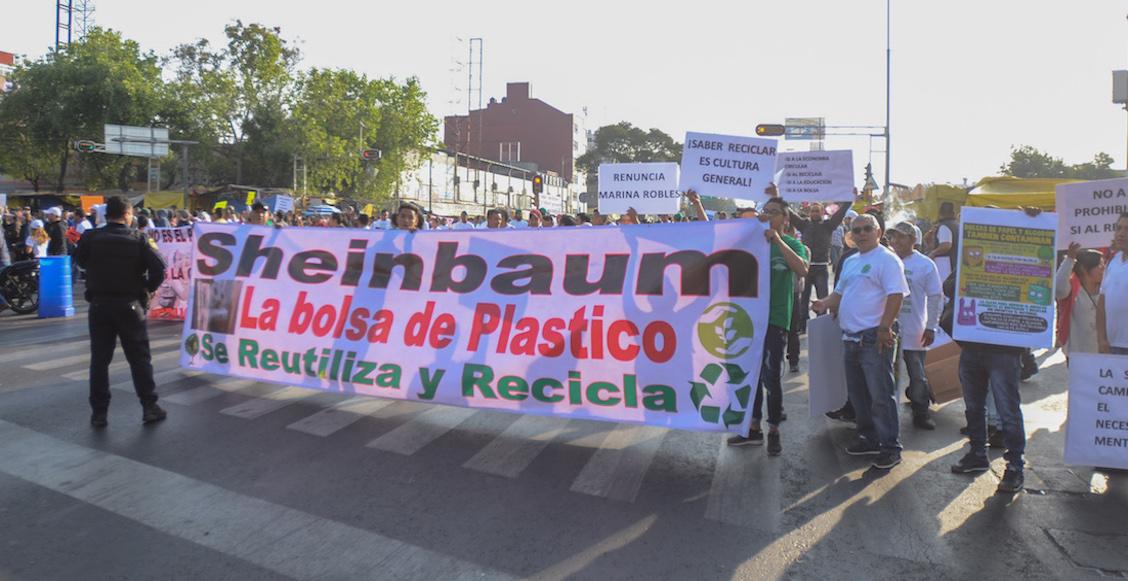 manifestación-plástico-sheinbaum-cdmx