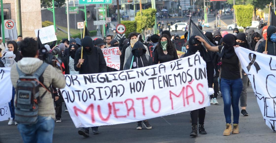 Estudiantes marcharon para exigir servicios de emergencias eficientes en la UNAM