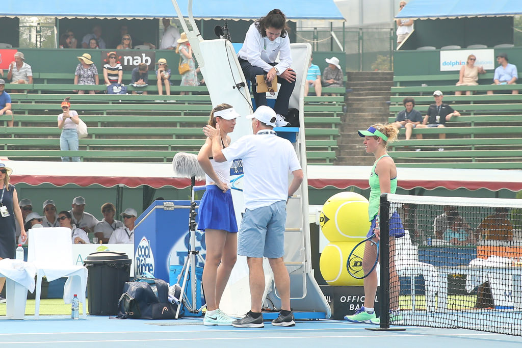 Humo de los incendios en Australia obligó a Sharapova a retirarse de torneo de tenis