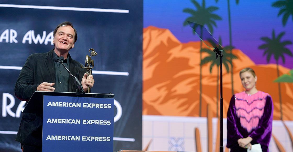 'Habla de mi como si estuviera muerto': Greta Gerwig hizo llorar a Quentin Tarantino en un discurso