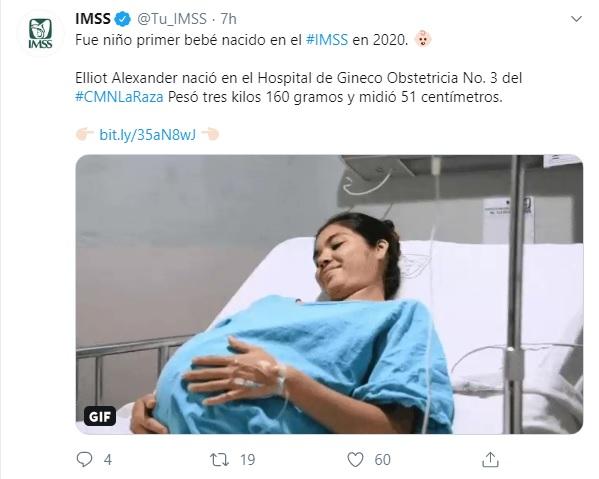 Elliot Alexander, el primer bebé que nació en 2020