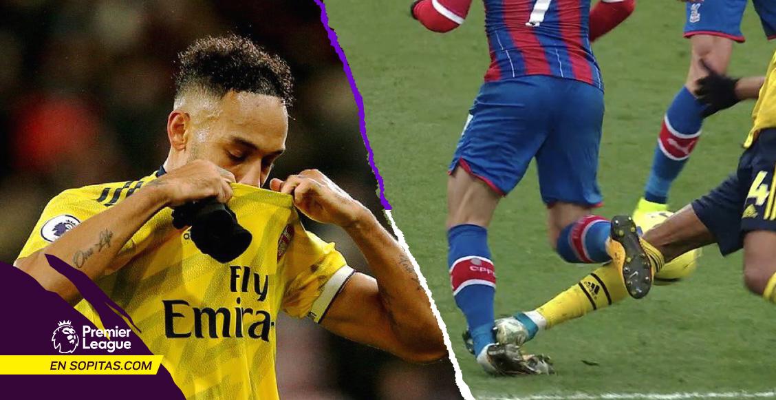 Crystal Palace rescató el empate, la expulsión de Aubameyang y la mala suerte del Arsenal