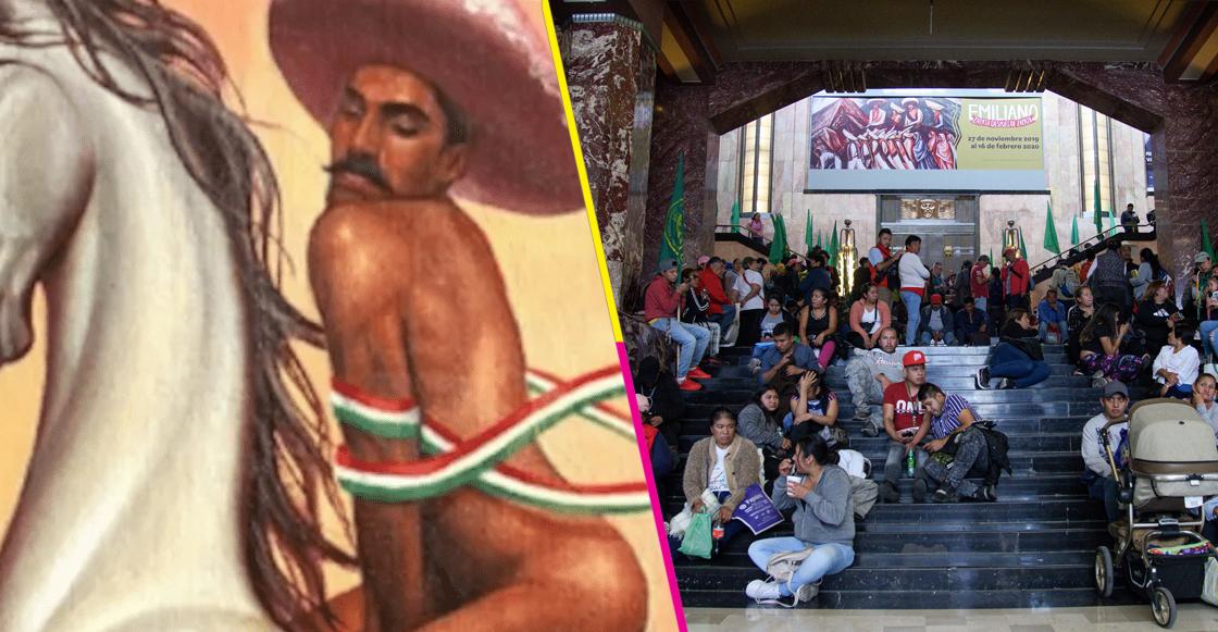 Campesinos protestarán contra AMLO por cuadro de 'Zapata gay'