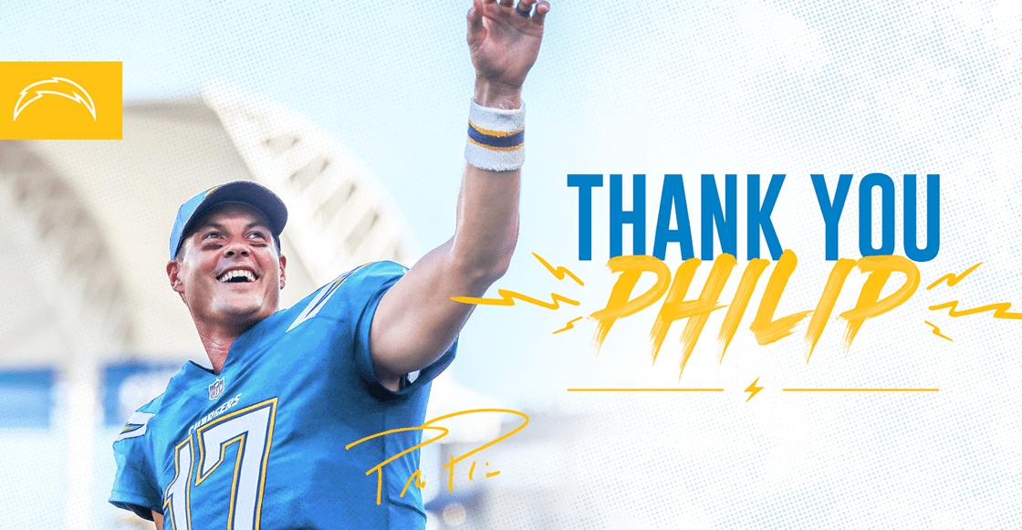 Thank you: Chargers anunciaron salida de Philip Rivers a la agencia libre