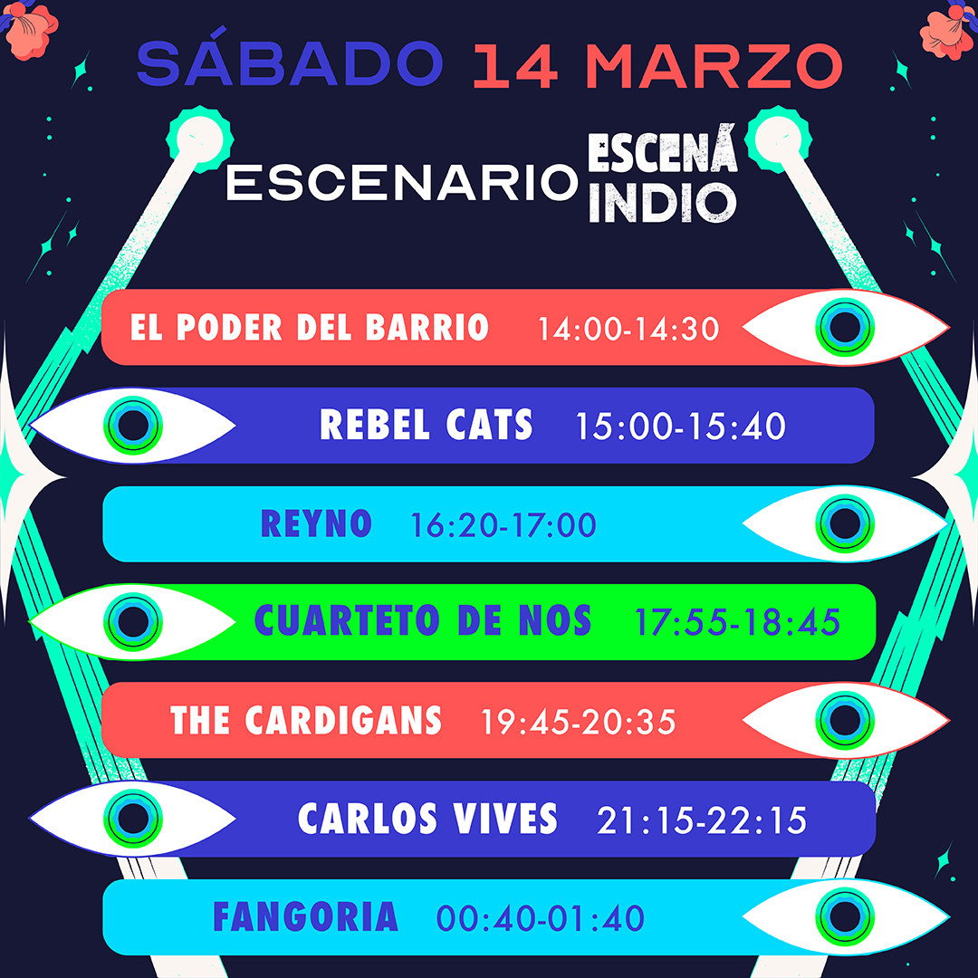 ¡Ya están aquí! Conoce los horarios del Vive Latino 2020