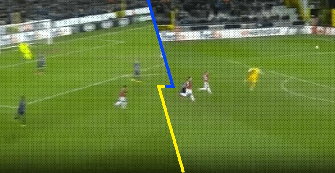 ¡A lo Alisson! La asistencia de Mignolet para el gol del Brujas sobre el Manchester United