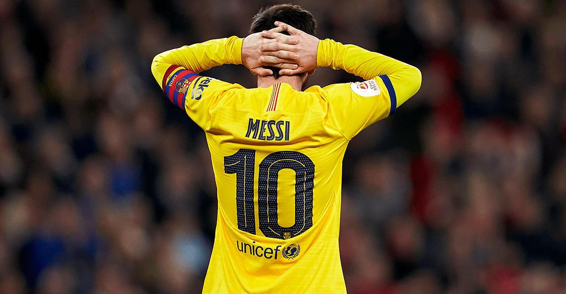 La imagen de Messi tras la eliminación en Copa del Rey que se volvió viral