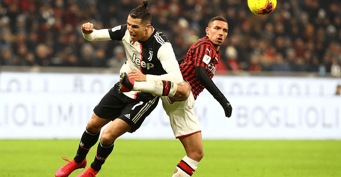 ¡Siempre tú, Cristiano! Milan y Juventus empataron en la ida de semifinales de Coppa Italia
