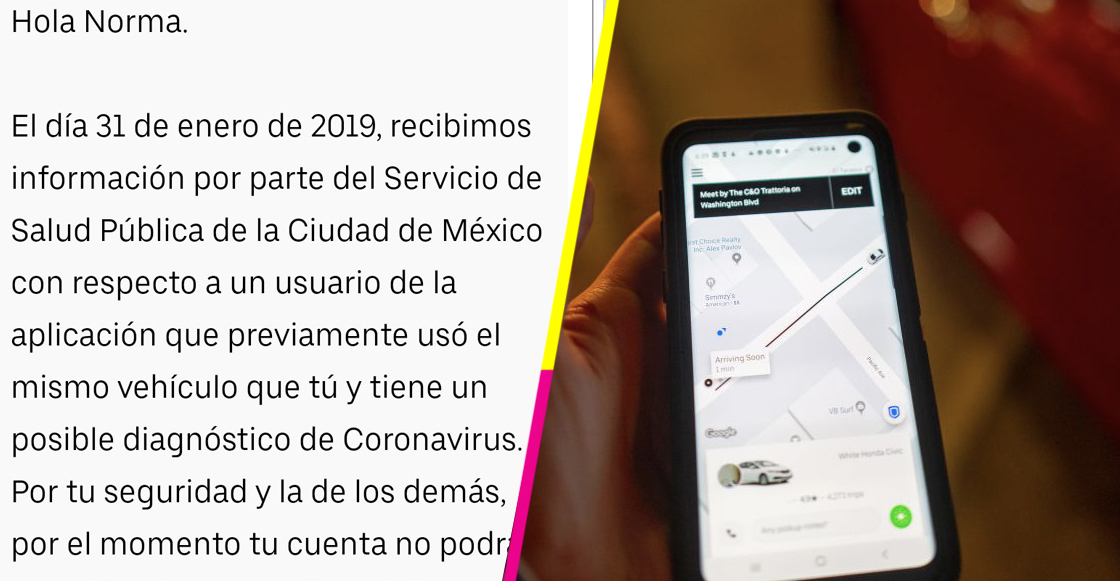 Uber desactiva cuentas de 240 usuarios para evitar presunto contagio de coronavirus en CDMX