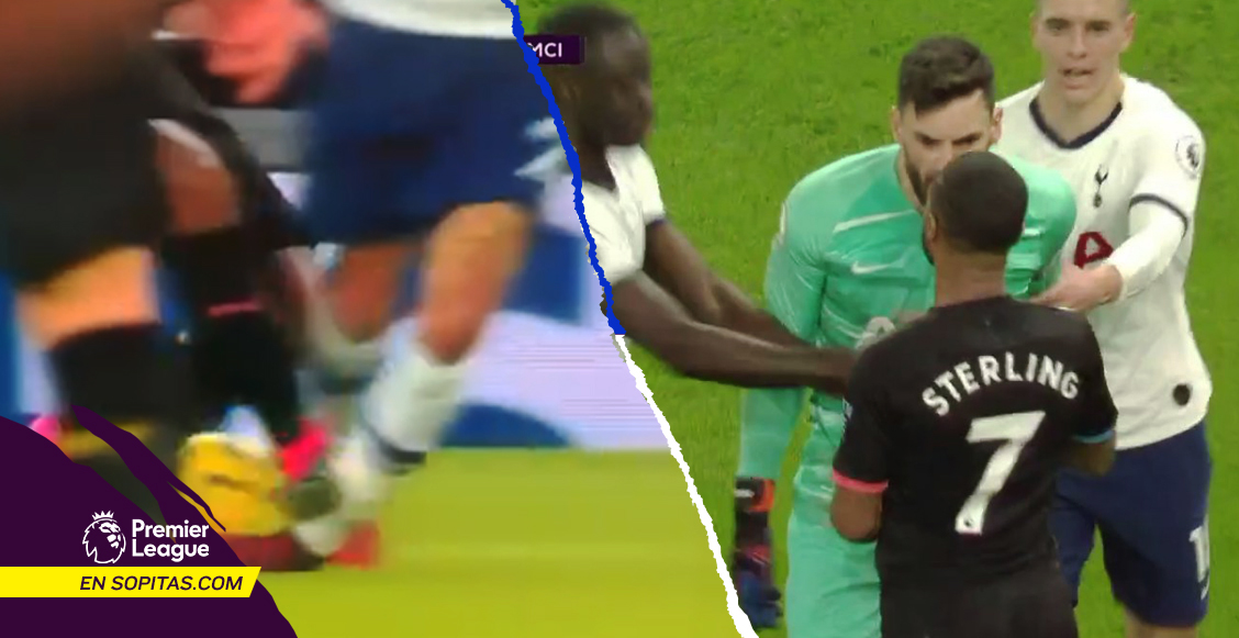 Entrada criminal, 'penal fingido' y Lloris lo encaró: El show de Sterling en la derrota del Manchester City