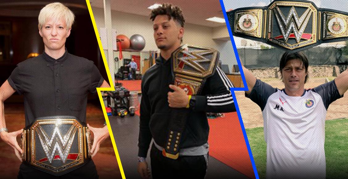 Mahomes, Almeyda, LeBron, Rapinoe... los deportistas que han recibido el cinturón de la WWE